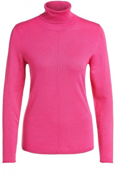 Pink Polo Neck Jumper