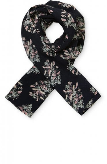 Along Warm Rose Patterned Scarf