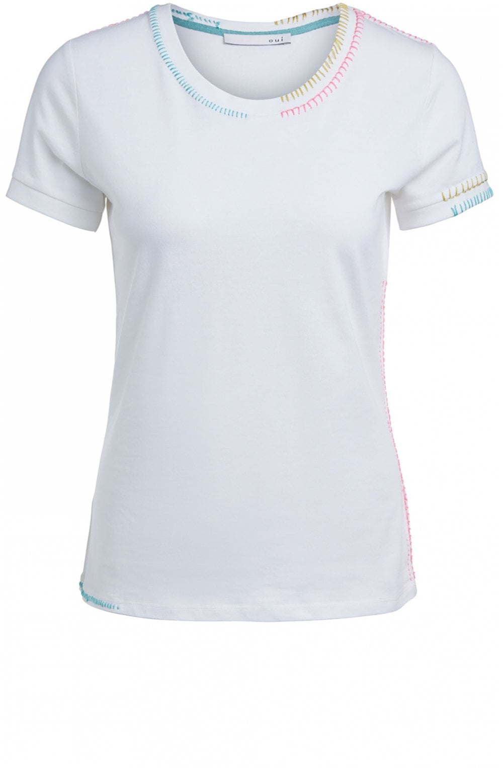 Uk Oui Stitch Detailed T From Shirt Sleeves BdxCoe